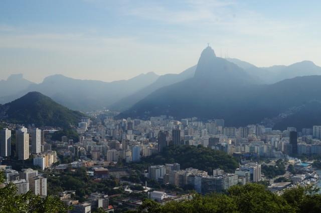 A spectacular view of Rio, being watched over by the Christ Statue.