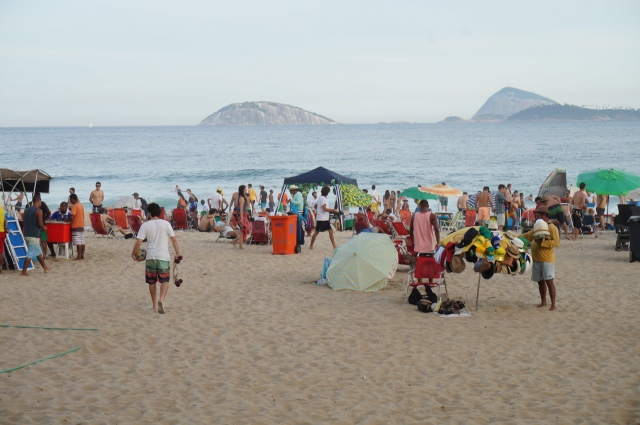 Ipanema, the ever popular beach, surpassed only by Copacabana.